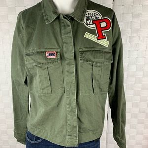 Forever 21 Army Green Denim Jacket Size S